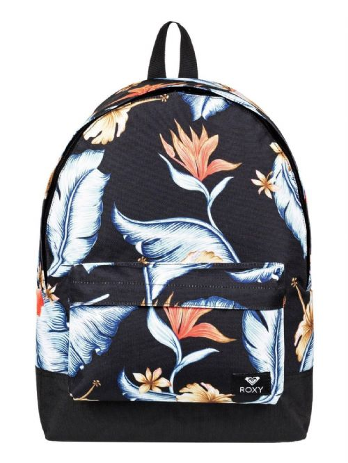 ROXY WOMENS BACKPACK BAG.NEW SUGAR BABY BLACK FLOWERED RUCKSACK.SCHOOL 9S 37 KV